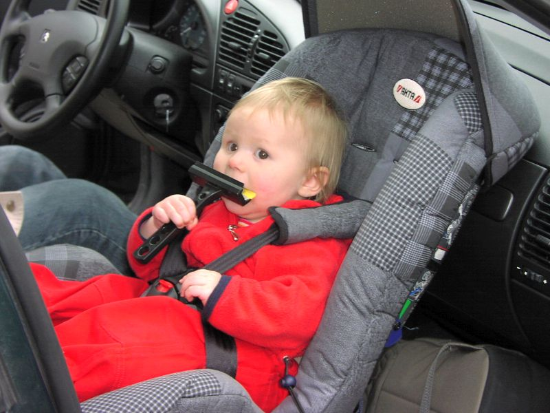 Do you think your kid is safe when they are in the car with you? Chances are they aren't as safe as you'd like to think they are. (flickr)